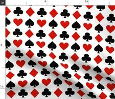 New listing Card Small Playing Cards Clubs Casino Gambling Spoonflower Fabric by the Yard