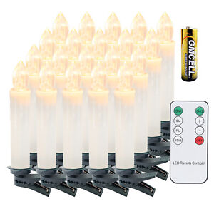 LED Weihnachtskerzen Wasserdichte Christbaumschmuck 30X kabellose mit Batterie
