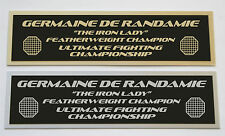 Germaine de Randamie UFC nameplate for signed mma gloves photo or case