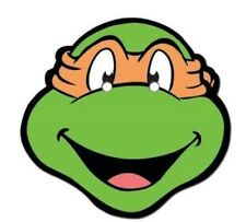 Michelangelo Teenage Mutant Ninja Turtles Official Single Card Party Face Mask
