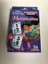 Disney Princess Multiplication Learning Cards New