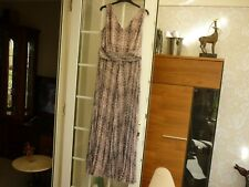 Together long dress size 12 UK, pink and grey, sleeveless, lined, BNWOT