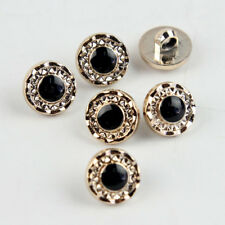 100 Pcs Round Black Resin Acrylic Round Shank Buttons Sewing Crafts DIY 13mm