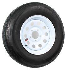 Radial Trailer Tire and Rim ST205/75R14 14X6 5-4.5 White Modular Wheel