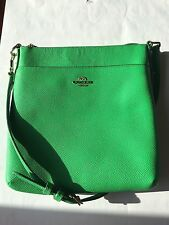 Coach 52348 Forest Green Crossgrain Leather Courier Swingpack Crossbody