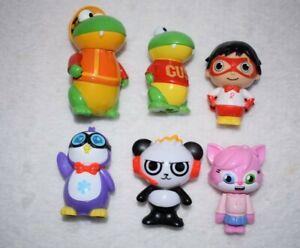 6x Ryan's World Figures Red Titan Gus Combo Panda Peck Alpha Lexa Toy Bundle A89