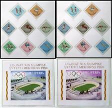 ALBANIA 1967-68 OLYMPICS, XF Cpl MNH** Sets + Sheets, Juegos Olimpicos Sports