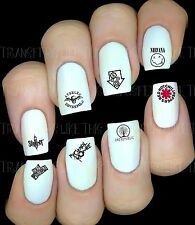 ROCK BANDS GROUPES  Stickers autocollant ongles manucure nail art water décal