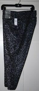 GAPFIT Women's Grey Cheetah Compression Capris Size XL