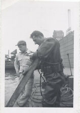 ORIGINAL VINTAGE PHOTOGRAPH OF EARLY SEA DIVER IN GEAR