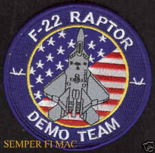 F-22 RAPTOR DEMONSTRATION DEMO TEAM 1st Fighter Wing Patch US AIR FORCE PIN UP