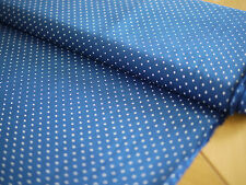 HILCO Baumwolle, HILDE, Stoff, Tupfen, Punkte,gepunktet dunkelblau-weiß
