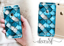 Blue Diamonds Abstracto Iphone 6 Wrap Skin-Iphone Skins-Fundas Para Iphone