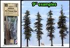 "Model Fir Trees KIT, makes 4 TREES, ea 9"" Tall, greatDETAIL, HO/N/O/S, FREE SHIP"