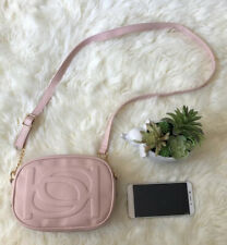 NWT BEBE POPPY CAMERA SHOULDER CROSSBODY BAG CUTE GIRLS BLUSH PINK GIFT BAG