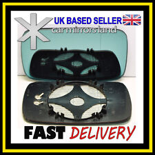 Right Driver Side Wing Mirror Glass HEATED BLUE ASPHERIC BMW 5 E39 95-03
