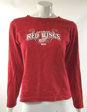 Majestic Womens Top Size Medium Detroit Red Wings Graphic Long Sleeve Tee Shirt