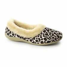 Sleepers PENNY Ladies Womens Ocelot Velour Comfy Full Slippers Leopard Print