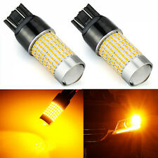 JDM ASTAR 144 SMD 7443 7440 Amber Yellow Turn Signal Marker Brake Light LED Bulb