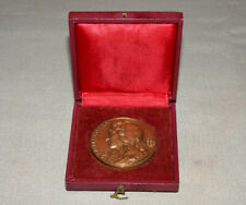 Paris Art Deco Jean de Lafontaine Signed Bronze Medal by Jean Vernon in Box