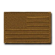 "Brown United States American Flag Usa Tactical Canvas Patch Decal 3"" X 2"""