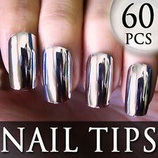 60 PCS 2012 New Series Metallic False Full Nail Tips 205-4