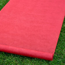 """New Solid Red Durable Rayon Aisle Runner 36"""" by 100' With Pull Cord"""