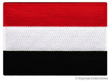 YEMEN FLAG embroidered iron-on PATCH ARAB MUSLIM NATIONAL EMBLEM MIDDLE EAST