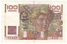 100 Francs Jeune Paysan 03/12/1953 Sup - ( 033 )