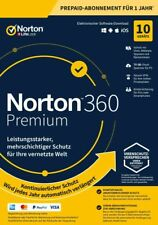 NORTON 360 PREMIUM 2020 10 Geräte 1 Jahr PC/Mac 10 PC DE Internet Security 2019