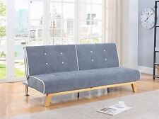 Birlea Jackson Sofa Bed Settee 3 Seater Click Clack Grey Fabric Scandinavian