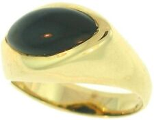 Natural Black Nephrite Jade Marquis Stone Ring, Size 6.5