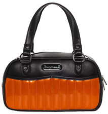 Sourpuss Sabrina Black & Orange Purse Retro Pinup Rockabilly Handbag