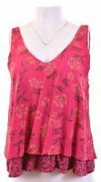 HOLLISTER Womens Top Blouse Size 12 Medium Pink Floral Viscose  GU04