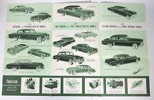 1953 Chrysler Fold Out Car Advertising Flyer