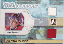 05-06 ITG Jose Theodore /40 Jersey Stick Between The Pipes Canadiens 2005