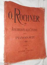 AVVIAMENTO ALLO STUDIO DEL PIANOFORTE Oscar Rochner Ricordi 1930 Musica Manuale