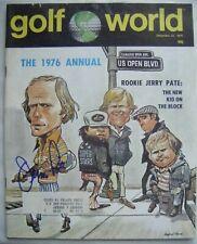 JERRY PATE signed 1976 GOLF WORLD magazine Autographed ALABAMA CRIMSON TIDE AUTO