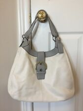 Coach Soho Lynn White Grey Leather Purse Shoulder Bag Handbag A1293-F17092