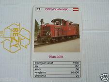 24 EK LOKS E2 OBB AUSTRIA KLAS 2091 TRAIN TREIN KWARTET KAART,