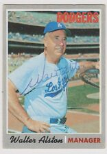 1970 Topps WALTER ALSTON Los Angeles Dodgers SIGNED Card #242