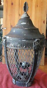 Huge Aluminum & Steel Post Lantern Pillar Outdoor Light Oil lamp Vintage Gothic