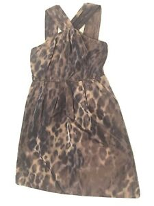 Leopard Animal print dress by Banana Republic - size 8P