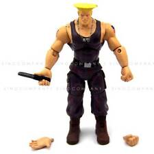 """JAZWARES STREET FIGHTER GUILE 4"""" ACTION FIGURE xmas gift tv movie toys FW215"""