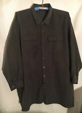 MEN'S 6X/BIG, OLIVE GREEN, LONG SLEEVE, BUTTON DOWN SHIRT BY GEORGE FOREMAN!