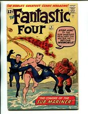 FANTASTIC FOUR 4 VG/FINE W PGS V. 1! 1ST SILVER AGE SUB-MARINER(NAMOR)! NOT CGC!