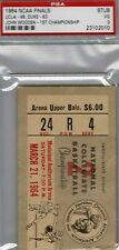 1964 NCAA Basketball FINALS Ticket JOHN WOODEN - UCLA 1st Championship (PSA 3)