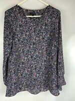 The Limited , Women Long Sleeve Printed Blouse Top , Tunic Size XS, 01