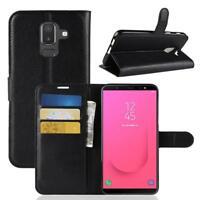 Funda para el Samsung Galaxy J8 2018 Libro Cover Wallet Case-s bolsa Negro