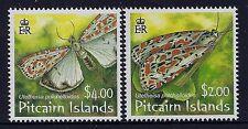 2007 PITCAIRN ISLANDS SALT & PEPPER MOTHS SET OF 2 FINE MINT MNH/MUH